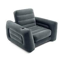 Надувне крісло - трансформер з підсклянником Intex, 66551, 117*224*66см, фото 1