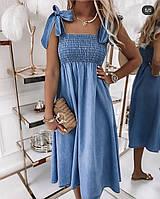 Женское платье джинсовое