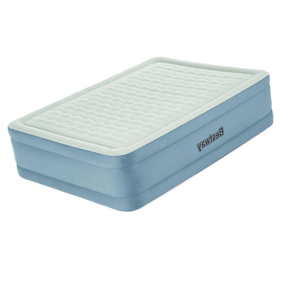 Двоспальне надувна ліжко з вбудованим електронасосом Bestway 69058 (203-152-51 см)