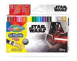 """Пастель маслянная """"STARWARS"""" в пластиковом контейнере, 12 цветов, тм Colorino"""