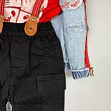 Комплект фут+штани+підтяжки+Помаранчевий жилет 0256 concept Туреччина 74(р), фото 2