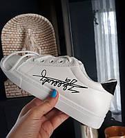 Белые кроссовки со шнуровкой   , размер 35, стелька 21,5