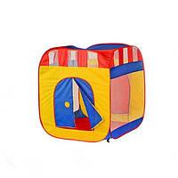 Намет дитячий Куб М 0505 з фіранкою, на змійці, 2 входи, 2 вікна-сітка в сумці