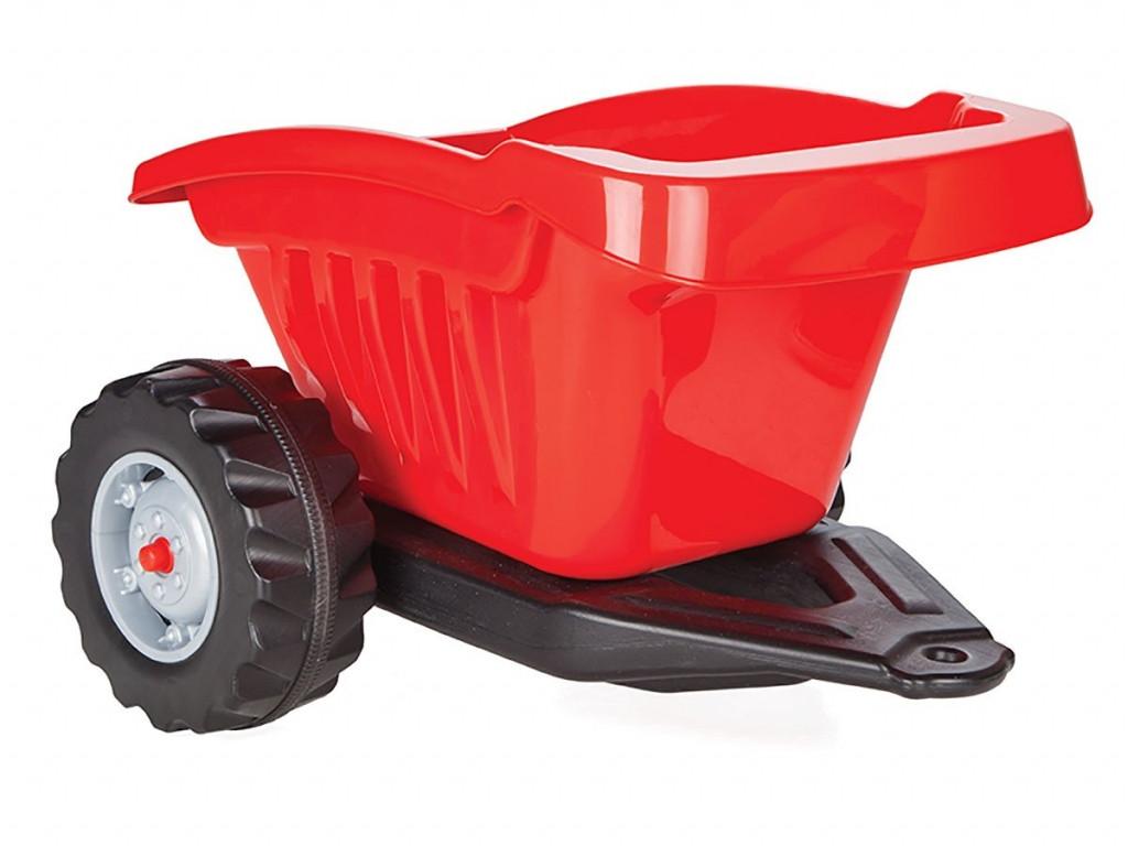 Дитячий причіп для педального трактора (з максимальним навантаженням до 35 кг) Pilsan 07-317, колір червоний