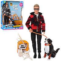 Лялька DEFA 8429 Кевін з вихованцем-собакою зі звуковими ефектами і аксесуарами, (2 види) (висота 30 см), фото 1