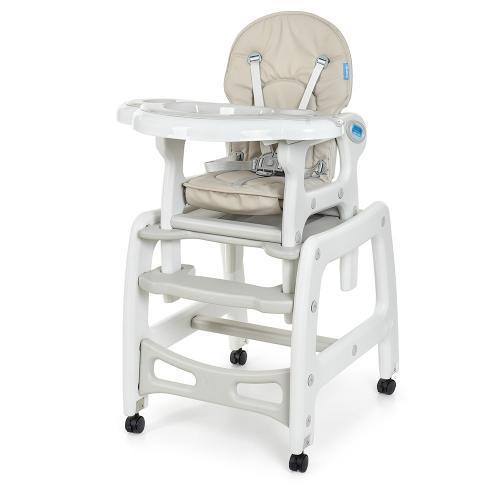 Універсальний дитячий стільчик-трансформер, качалка для годування малюків Bambi M 1563-11, сірий