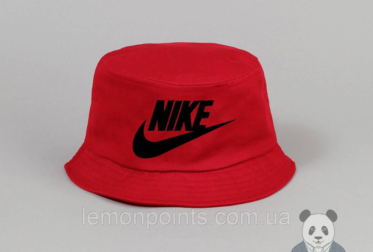 Панамка Nike   летняя хлопковая красная