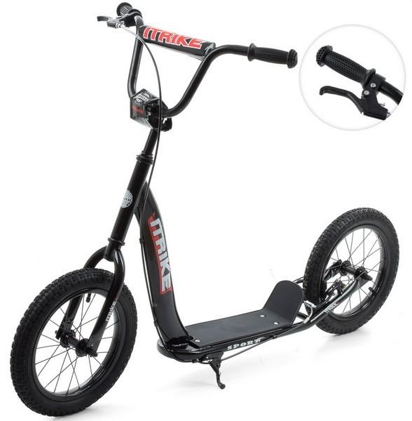 Двоколісний самокат для дитини з великими, гумовими, надувними колесами ITrike SR 2-043-2-B (чорний)