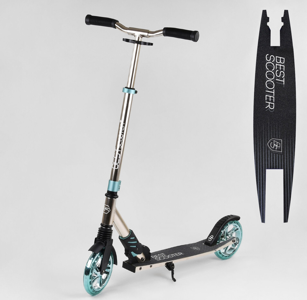 Складаний компактний, двоколісний самокат для підлітків з регулюванням висоти керма S-10133 Best Scooter