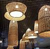 Плетеные люстры из лозы ОПТОМ/ Дизайнерские плетеные абажури/Под заказ плетеные люстры