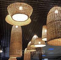 Плетеные люстры из лозы ОПТОМ/ Дизайнерские плетеные абажури/Под заказ плетеные люстры, фото 1