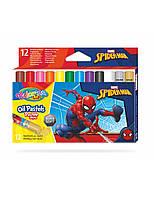 """Пастель маслянная """"SPIDERMAN"""" в пластиковом контейнере, 12 цветов, тм Colorino"""
