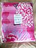 Постельное белье Евро жатка TIROTEX розовое с цветами