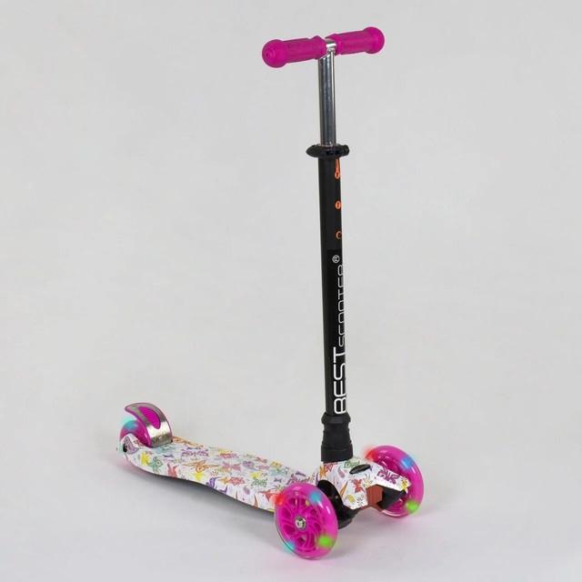 Самокат трехколесный для детей от 3 лет Best Scooter Maxi А 25593 / 779-1336 с подсветкой