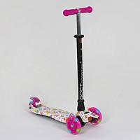 Самокат трехколесный для детей от 3 лет Best Scooter Maxi А 25593 / 779-1336 с подсветкой, фото 1