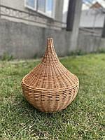 Плетёный абажур не обычной формы