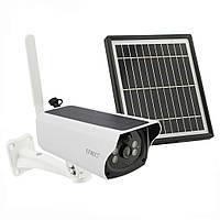 Камера відеоспостереження з сонячною панеллю UKC відеокамера спостереження, фото 1