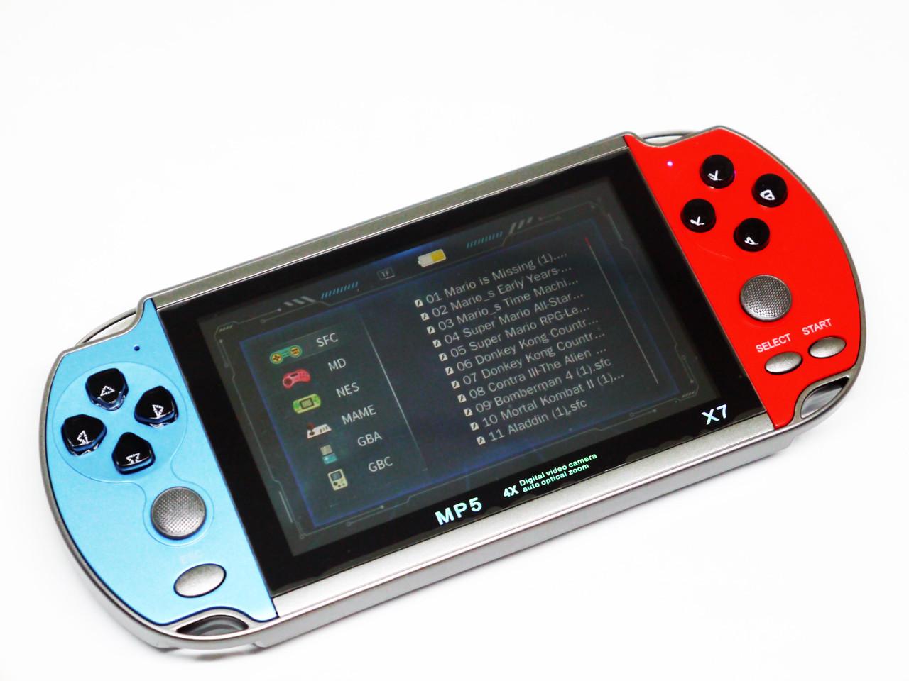 Игровая приставка X7 MP5 + 3000 игр
