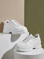 Белые кроссовки со шнуровкой Shein, стелька 23