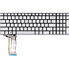 Клавіатура для ноутбука ASUS N551, сріблястий