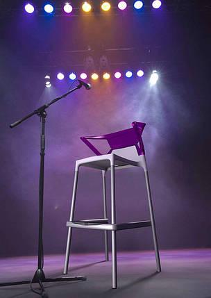 Барное кресло Papatya Ego-K белое сиденье, верх прозрачно-синий, фото 2