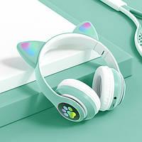 Наушники накладные беспроводные с ушками Vj STN28 FM+MP3