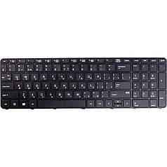 Клавиатура для ноутбука HP 450 G3, 470 G3 черный, черный фрейм