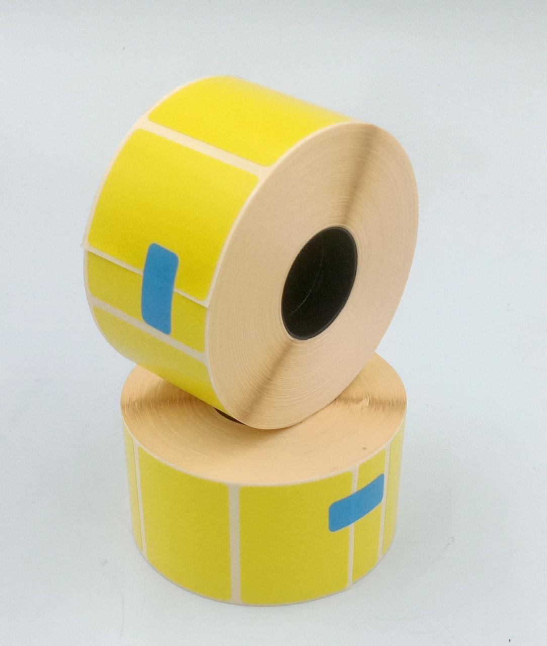Термоэтикетка Т.Еко пантон 40*30 мм 1000 этикеток прямоугольная 5 шт жёлтая (4030T1000V25Y)