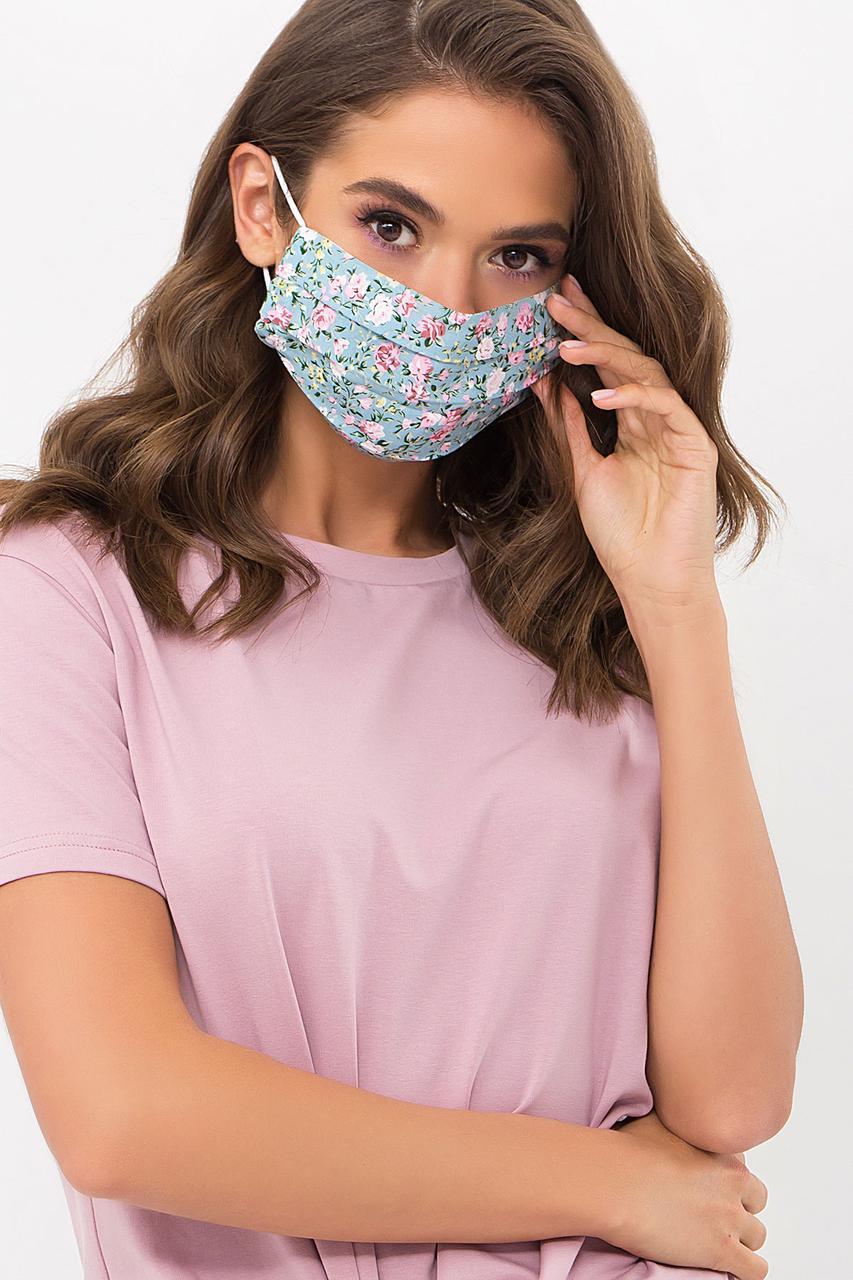 Річна захисна двошарова тканинна маска для обличчя