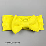 Ромпер на гудзиках+пов'язка дів. Жовтий 0257 Murat baby Туреччина 68(р), фото 3
