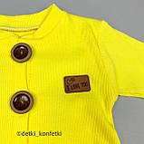 Ромпер на гудзиках+пов'язка дів. Жовтий 0257 Murat baby Туреччина 68(р), фото 4