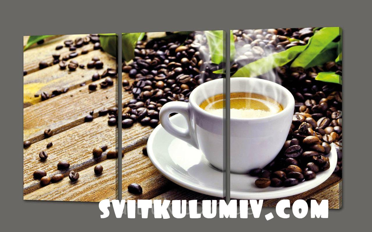 Модульная картина Кофе 120*70 см Код: 312.3к.120