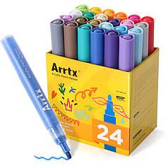 Акриловые маркеры Arrtx 24 цвета (AC-002-24)
