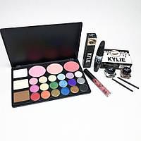 Набор косметики для макияжа MINI (палетка , тени, тушь, блеск для губ, мейкап, макияж, makeup)