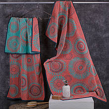 Полотенце махровое ТМ Речицкий текстиль, Круги 50х90 см