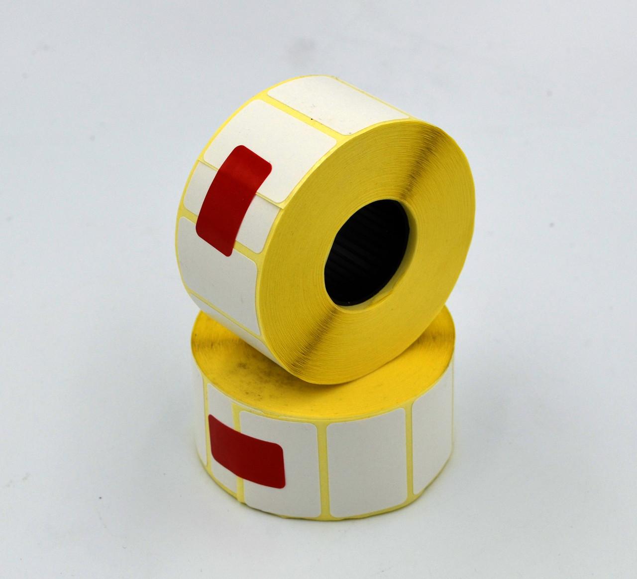 Термоетикетка Т. Еко пантон 40*30 мм 1000 етикеток прямокутна 10 шт біла (4030T1000V25)