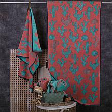 Полотенце махровое ТМ Речицкий текстиль, Кактус 50х90 см