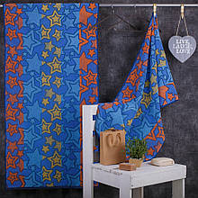 Рушник махровий ТМ Речицький текстиль, Зірки 50х90 см