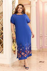 Легкое женское летнее платье большого размера 48 - 50 , 52 - 54