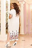 Легкое женское летнее платье большого размера 48 - 50 , 52 - 54, фото 5