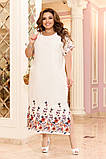 Легкое женское летнее платье большого размера 48 - 50 , 52 - 54, фото 2