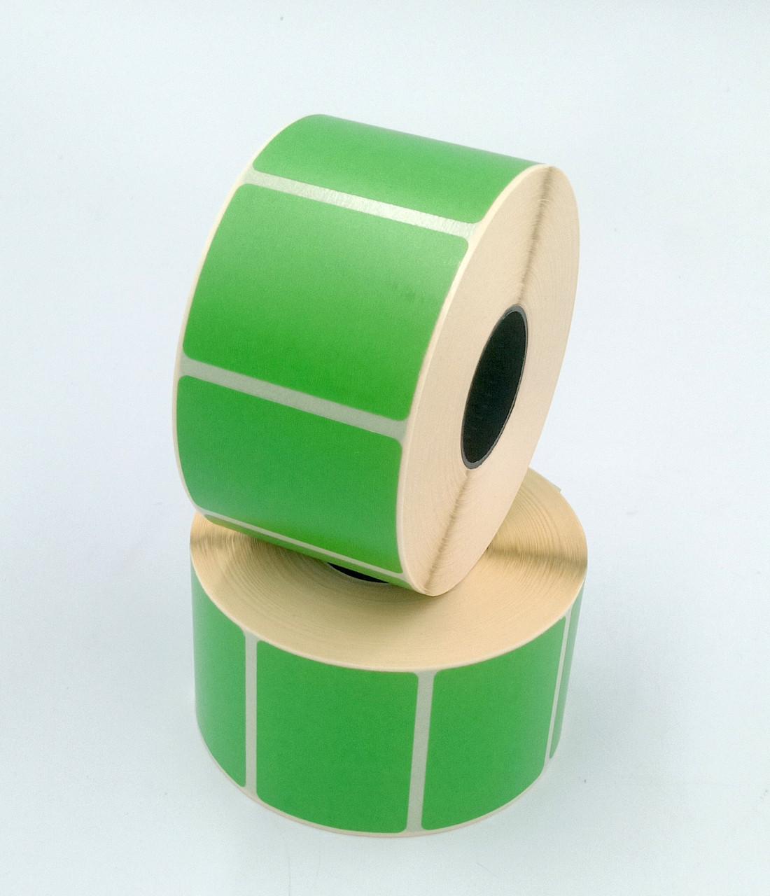Термоетикетка Т. Еко пантон 40*25 мм 1000 етикеток прямокутна 5шт зелена (4025T1000V25G)