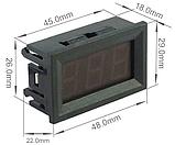 Вольтметр переменного напряжения 75~300В в корпусе СИНИЙ, фото 5