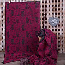 Рушник махровий ТМ Речицький текстиль, 3 Кота 50х90 см