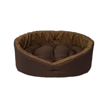 Лежак для котів і собак коричневий/койот