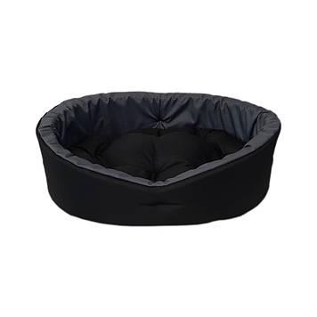 Домик лежак, лежанка для животных черный/серый