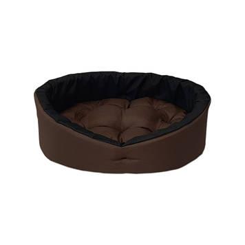 Лежанка, лежак для собак і котів коричневий/чорний