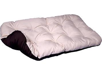 Лежак для собак. Двосторонній Бежевий + Коричневий
