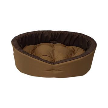 Лежак для собак і котів койот/коричневий M