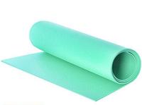 Коврик для фитнеса и йоги 1800Х500Х5мм салатовый нескользящий каремат спортивный